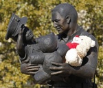 .jpg photo of statue at Euless Texas Police Headquarters
