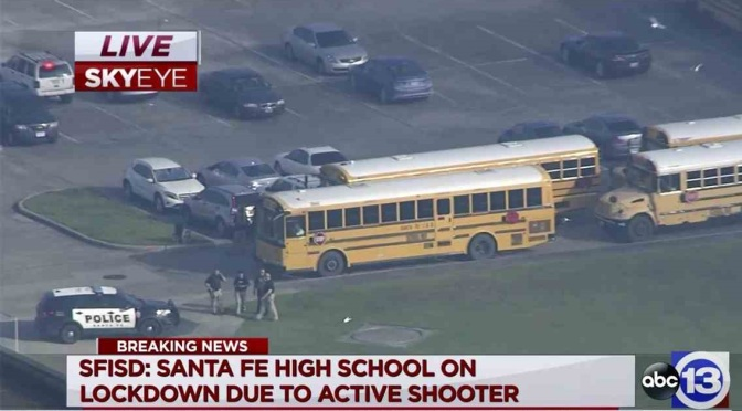 .jpg photo of Texas High School lock down after shooting