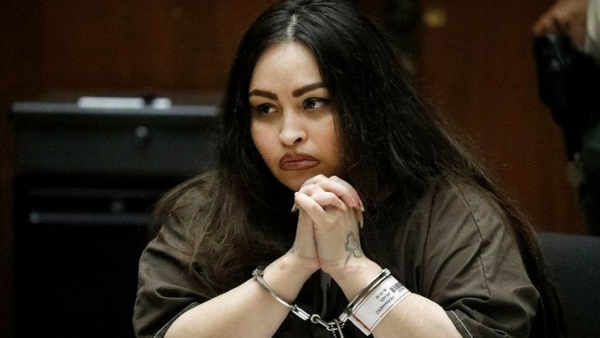 .jpg photo of Pearl Sinthia Fernandez during sentencing for child abuse