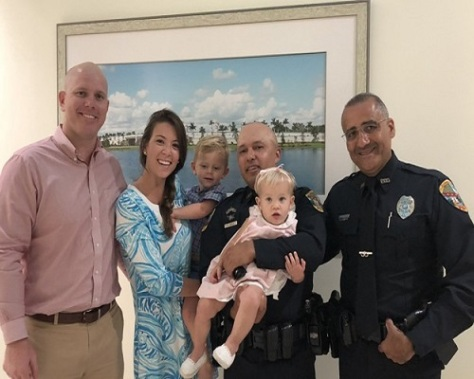 .jpg photo of Florida Cops honored for saving choking baby